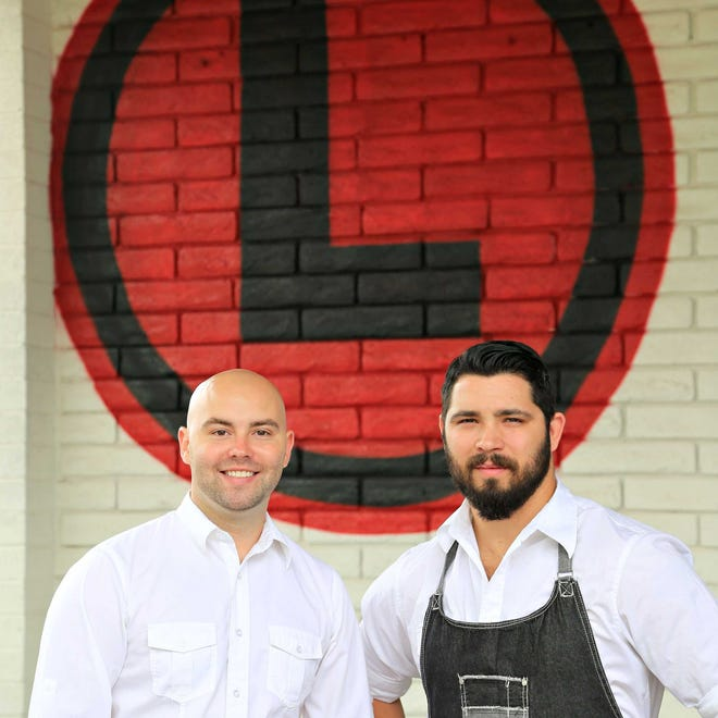 Partners, Adam Hargett , l, and Chris McKinley  of The Local.