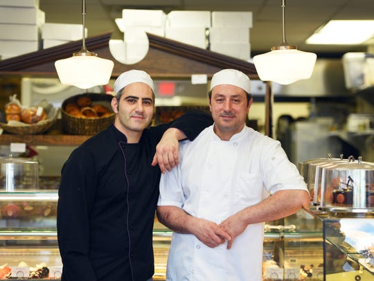 The men behind Pierre and Michel Authentic French Bakery: Pierre Chayene (L) and Michel Kory (R)
