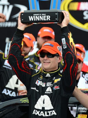 Jeff Gordon notched his first win at Michigan International Speedway since 2001.