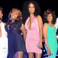 """""""R&B Divas: Los Angeles"""" cast members: Chante Moore (from left), Lil' Mo, Claudette Ortiz and Michel'le. Getty Images"""