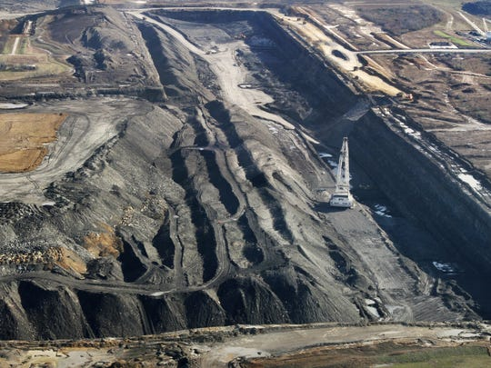 This is an aerial, looking east, of operations at the Bear Run coal mine in Eastern Sullivan County near Carlisle, Ind. on Wednesday, Dec. 7, 2011. The location, 7255 E. County Road 600 S., is about 25 miles south of Terre Haute. Charlie Nye / The Star. <b>01/08/2012 - A01 - MAIN - 2ND - THE INDIANAPOLIS STAR</b><br />Beginning this year, the Bear Run Mine in Sullivan County is expected to produce 8 million to 12 million tons of coal annually.