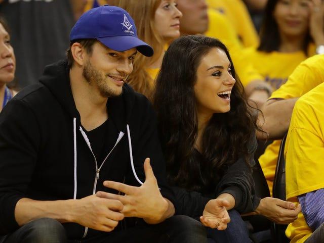 Mila Kunis And Ashton Kutcher Wedding.Frugal Mila Kunis Got Her And Ashton Kutcher S Wedding Bands On