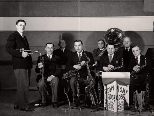 The Romy Gosz Polka Band, from left, Romy Gosz, Jim