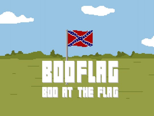A screen shot of the Web game BooFlag.