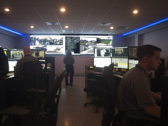 The Camden County Police's Tactical Operations Center