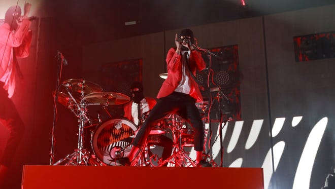 21 Pilots perform at the Prudential Center in Newark on Jan. 21, 2017.