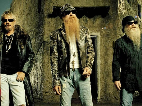 ZZ Top members Billy F. Gibbons, Dusty Hill and Frank
