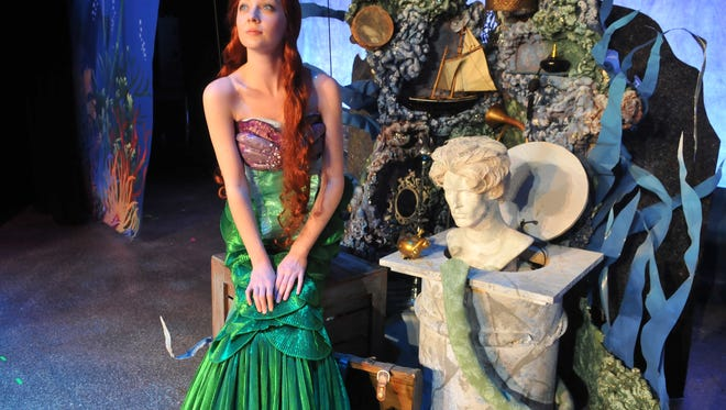 "Dress rehearsals for ""Disney's The Little Mermaid"", which will play from August 14-September 6 at the Titusville Playhouse. ""Ariel"" is played by Allison Lachnicht."