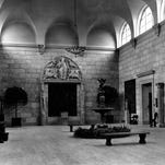 A cool space: the Memorial Art Gallery's marble-floored Fountain Court.
