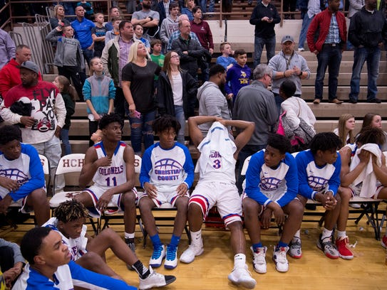 Christian County watches the University Heights basketball