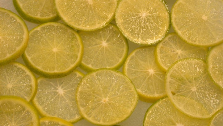 Key lime rind and juice are key ingredients in today's recipe for cookies.