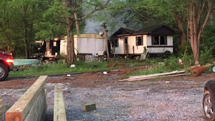 A fire destroyed two mobile homes Wednesday, April