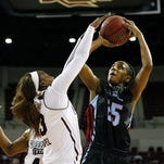 Louisiana Tech guard Brandi Wingate (25) scored 21 second-half points to lead the Techsters past North Texas.