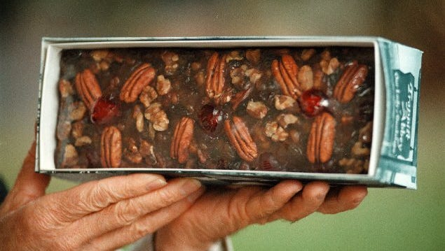 Fruitcake. Former Tonight Show host Johnny Carson, famously said the dessert was the world's worst gift.