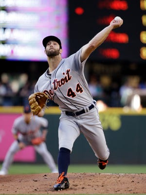 Tigers pitcher Daniel Norris throws against the Seattle Mariners during the first inning Thursday in Seattle.
