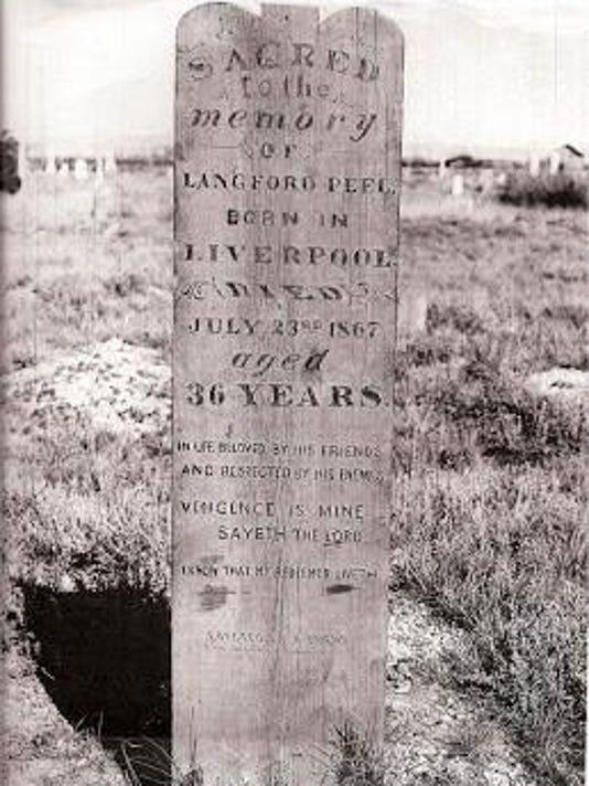 Peel tombstone