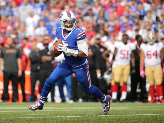 Tyrod Taylor is completing just 58.7 percent of his passes through eight games.
