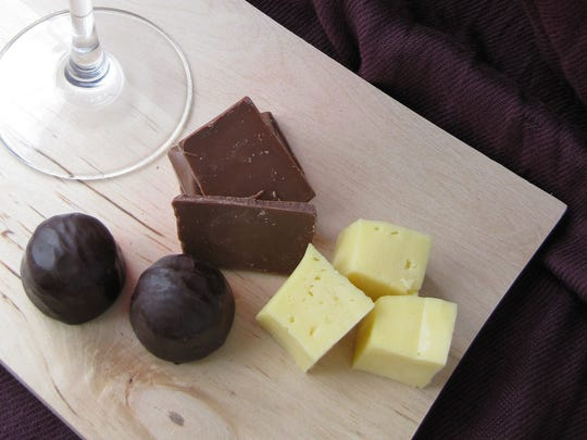 Pungent cheeses and chocolates can pair with red wines.