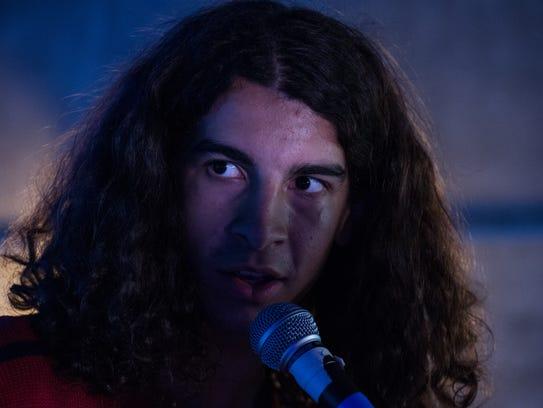 Gabe Resto, 16, rehearses alongside bandmates at AMP