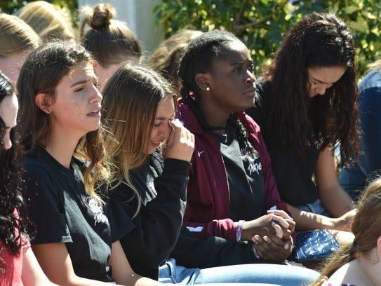 Marjory Stoneman Douglas High School students break