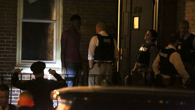 Wilmington police investigate a shooting reported on the 100 block of N. Connell Street about 8:30 pm Thursday.