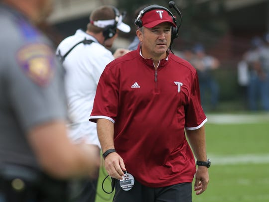 Shayne Wasden retired as a Troy assistant after the 2015 season, but he returned to help the Trojans for this year's New Orleans Bowl.