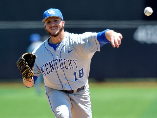 A star college pitcher, former UK All-American A.J. Reed plays first base in the minors.
