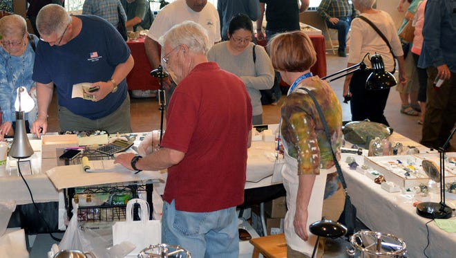"""Hundreds of people showed up this weekend for the fourth annual """"The Museum Rocks!"""" gem & mineral show at the Farm & Ranch Museum."""