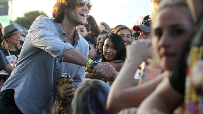 """Actor Jared Padalecki greets fans at the Austin City Limits Music Festival in 2015. Padalecki will be starring in the TV series """"Walker,"""" which will likely be filmed in Austin after City Council members on Thursday agreed to pay $141,000 in incentives to the show's production company."""