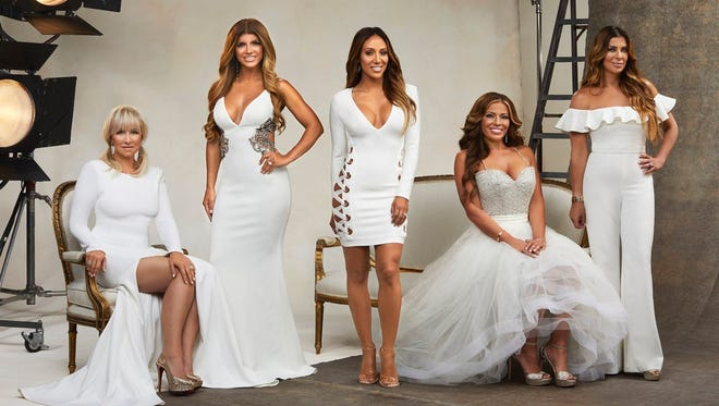 "From left, ""Housewives"" Margaret Josephs, Teresa Giudice, Melissa Gorga, Dolores Catania and Siggy Flicker."