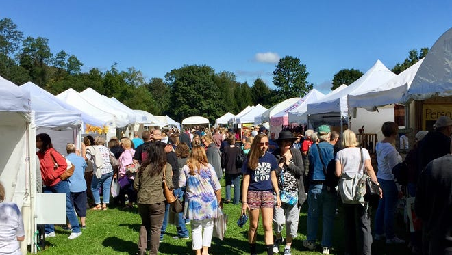 Thousands filled Borough Park for the Chester Fall Craft Show.