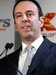 Edward Lampert, chairman of Sears Holdings Corp., speaks during a new conference in New York in 2004.