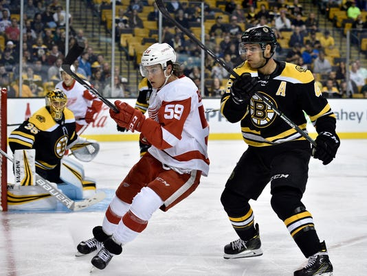 NHL: Preseason-Detroit Red Wings at Boston Bruins