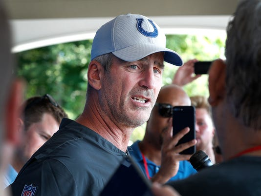 Indianapolis Colts report to training camp at Grand Park in Westfield.