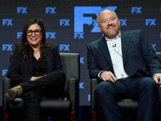 Pamela Adlon, left, and Louis C.K. are co-creators,