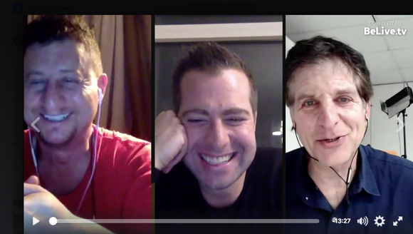 Having a three-way talk show on Belive.tv with Colin