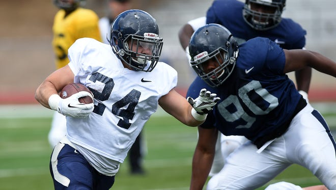 Lucas Weber came to Nevada as a walk-on running back but will be a scholarship linebacker in 2016.