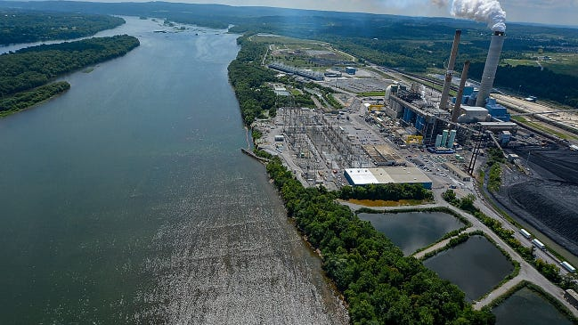Brunner Island Power Plant, shown in an aerial shot, was the third-largest source of nitrogen oxide in the state in 2011. The coal-burning plant doesn't have reduction controls in place for the pollution and soon may become the state's largest smog contributor.