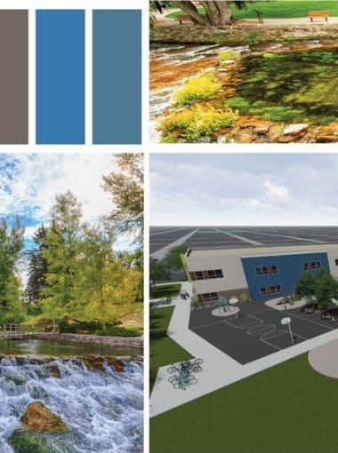 LPW Architects took inspiration from Giant Springs State Park when creating their design.