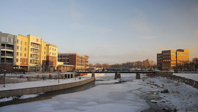 The Big Sioux River is shown in early January.