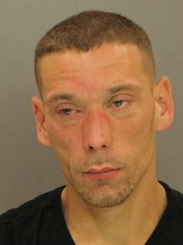 William Harding Raffensberger, 33, of no fixed address. (Photo courtesy of Southern Regional Police Department)