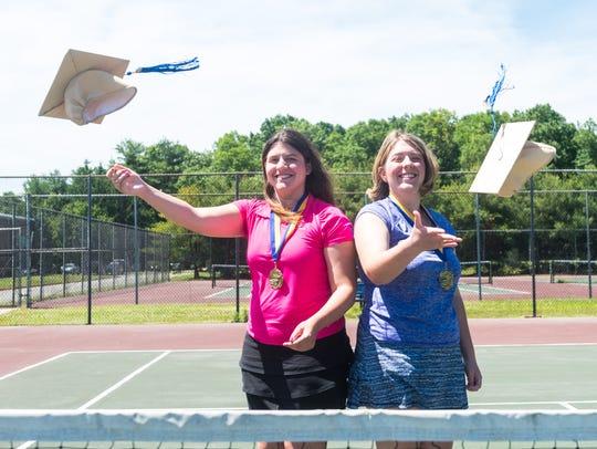Buena co-valedictorians Isabella (left) and Gabriella DeStefano.