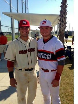 Bryant Bowen (left) stands with Captain Shreve teammate Justin Skeesick.
