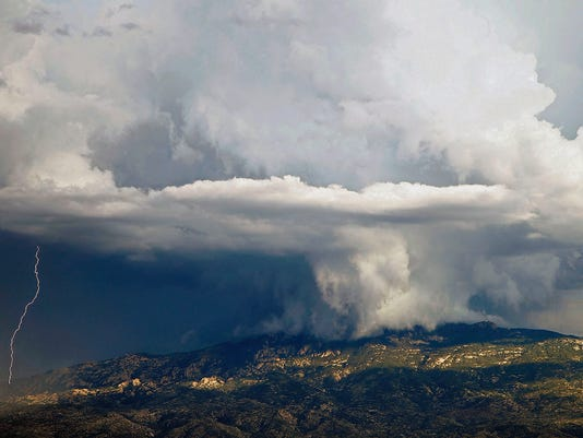 Monsoon over Rincon Mountains