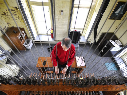Dr. Richard Shadinger, a music professor at Belmont University and carillonneur for Belmont's 42-bell carillon, plays his annual Christmas Eve carillon concert from the bell tower on campus.