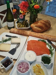 With the smoked salmon platter, include crisp breads