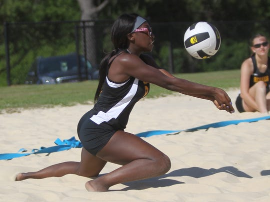 2018 Tallahassee high school beach volleyball city tournament at Tom Brown Park