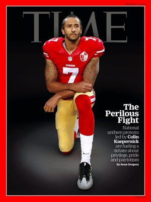 Colin Kaepernick graces the cover of this week's Tim Magazine.