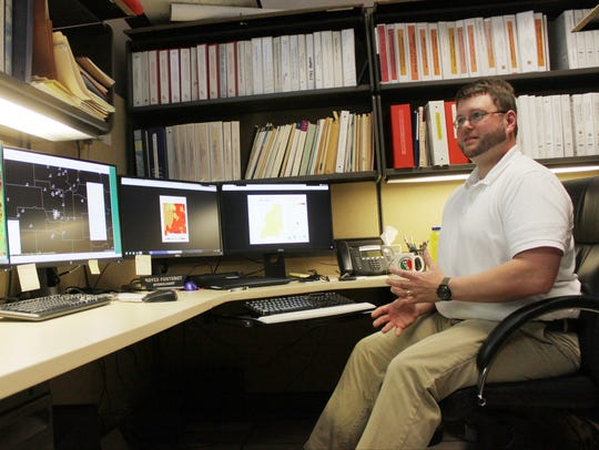 National Weather Service hydrologist Royce Fontenot