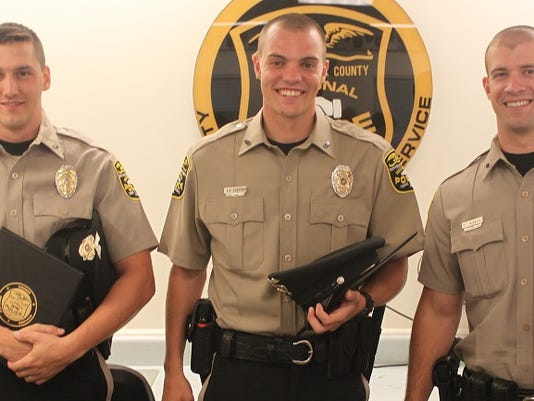 New Northern Regional Officers (l-r) William I. Nailor, 25; Andrew D. Shaffer, 24; and Patrick T. McBreen, 24.